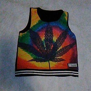 Tie Dye Weed Tank S/M